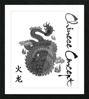 Chinese Concept 03A Picture Frame print