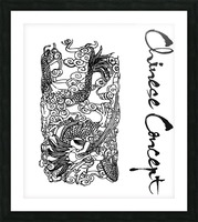 Chinese Concept 07A Picture Frame print