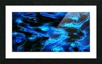 True Lightning - blue white black swirls abstract wall art Picture Frame print