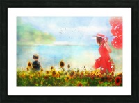 The lake Picture Frame print