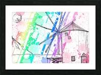 windmill art print multicolor 02 Picture Frame print