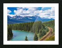 Train Tracks and River Bend Picture Frame print