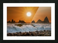 Sunset at Rialto Beach Picture Frame print
