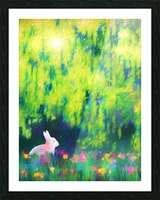 Bunny beneath the Willow Tree Picture Frame print