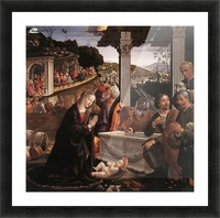 The adoration of the sheperds Picture Frame print