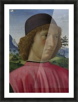 Portrait of a young men in red Picture Frame print