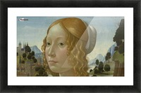 Portrait of a lady Picture Frame print
