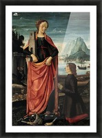 St Barbara crushing her father Picture Frame print