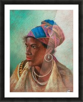 Portrait of a woman Picture Frame print