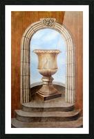 Marbled Urn Alcove - Trompe Loeil Picture Frame print