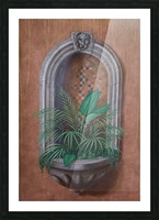Wall Alcove with Plants - Trompe Loeil Picture Frame print