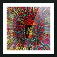 Colorful Mushroom Picture Frame print