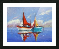 Sailboats in the sea Picture Frame print