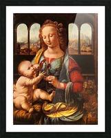 Leonardo da Vinci. The Madonna of the Carnation HD 300ppi Picture Frame print