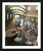 A wine Tasting  Picture Frame print