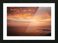 Lima Sunset Picture Frame print