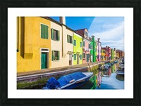 Boats in Burano Picture Frame print
