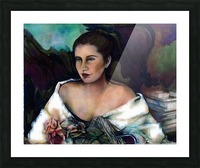 Spanish Lady With A Rose Picture Frame print