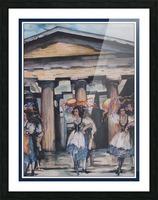 Italian Tamborine Dancers  Picture Frame print