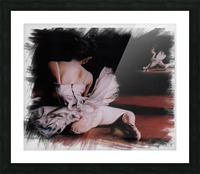 Ballerina In The Mirror .  Picture Frame print
