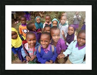Many Faces of Africa Picture Frame print