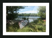 Lonely canoe Picture Frame print