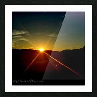 Glinting horizon Picture Frame print