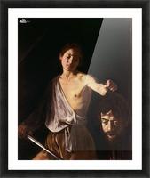 David con la testa di Golia Picture Frame print