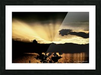 Ray of light Picture Frame print