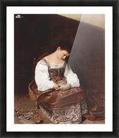Penitent Magdalene Picture Frame print