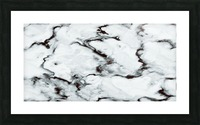 True White Marble - panoramic abstract wall art Picture Frame print