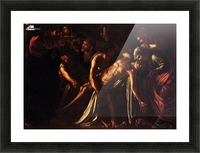 The ressurection of Lazarus Picture Frame print