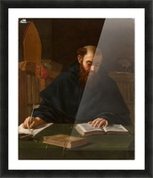 Saint Augustine in his study Picture Frame print
