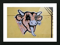 Demon Laughing Cow Picture Frame print