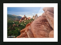 Beautiful Red Rock structures in the Desert Picture Frame print