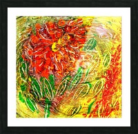 orange flower energy abstraction Picture Frame print