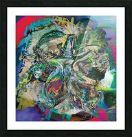 mottled multicolored abstract composition Picture Frame print