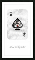 playing cards ace of spades Picture Frame print