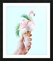 Tropical Ice Cream Picture Frame print