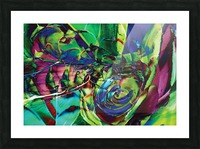 swirling abstract shapes  Picture Frame print