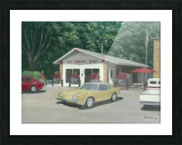 The Ice Cream Shop - Newtown Scenes  12 x 16  Picture Frame print