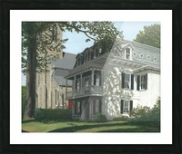 Balcony House Shadows - Newtown Scenes 16X20  Picture Frame print