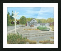Hawleyville Scene - Newtown Scenes 16X20 Picture Frame print