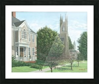 Main Street At Church Hill Road - Newtown Scenes 16X20 Picture Frame print
