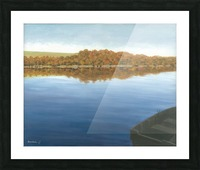 Rowboat on Taunton Lake - Newtown Scenes 16X20 Picture Frame print
