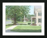 Main Street Monument - Newtown Scenes 16X16 Picture Frame print