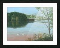 Silver Bridge - Newtown Scenes 18X24 Picture Frame print