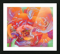 floral swirling Picture Frame print