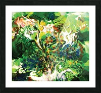 green fluid abstract Picture Frame print