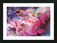 floral creation abstraction Picture Frame print